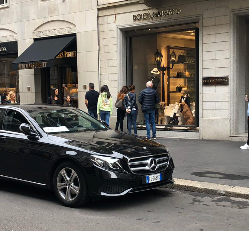 Ncc per shopping Milano